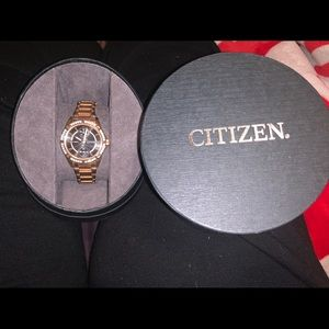 Citizen Eco-Drive crystal accent bracelet watch